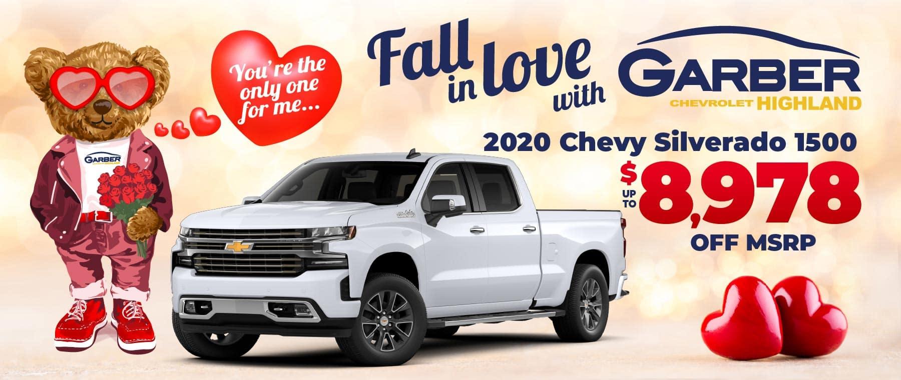 2020 Chevy Silverado 1500 - up to $8978 off MSRP
