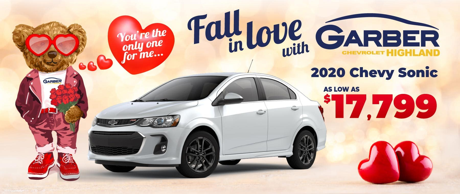 2020 Chevy Sonic - as low as $17,799