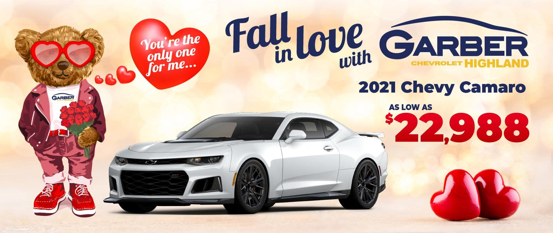 2021 Chevy Camaro - as low as $22,988