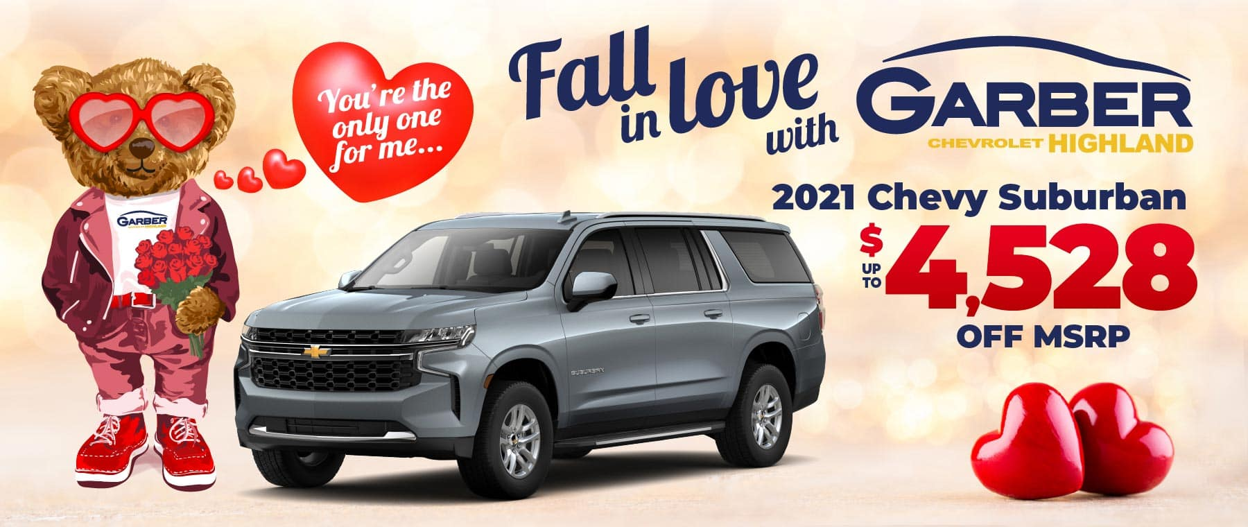 2021 Chevy Suburban - up to $4528 off MSRP