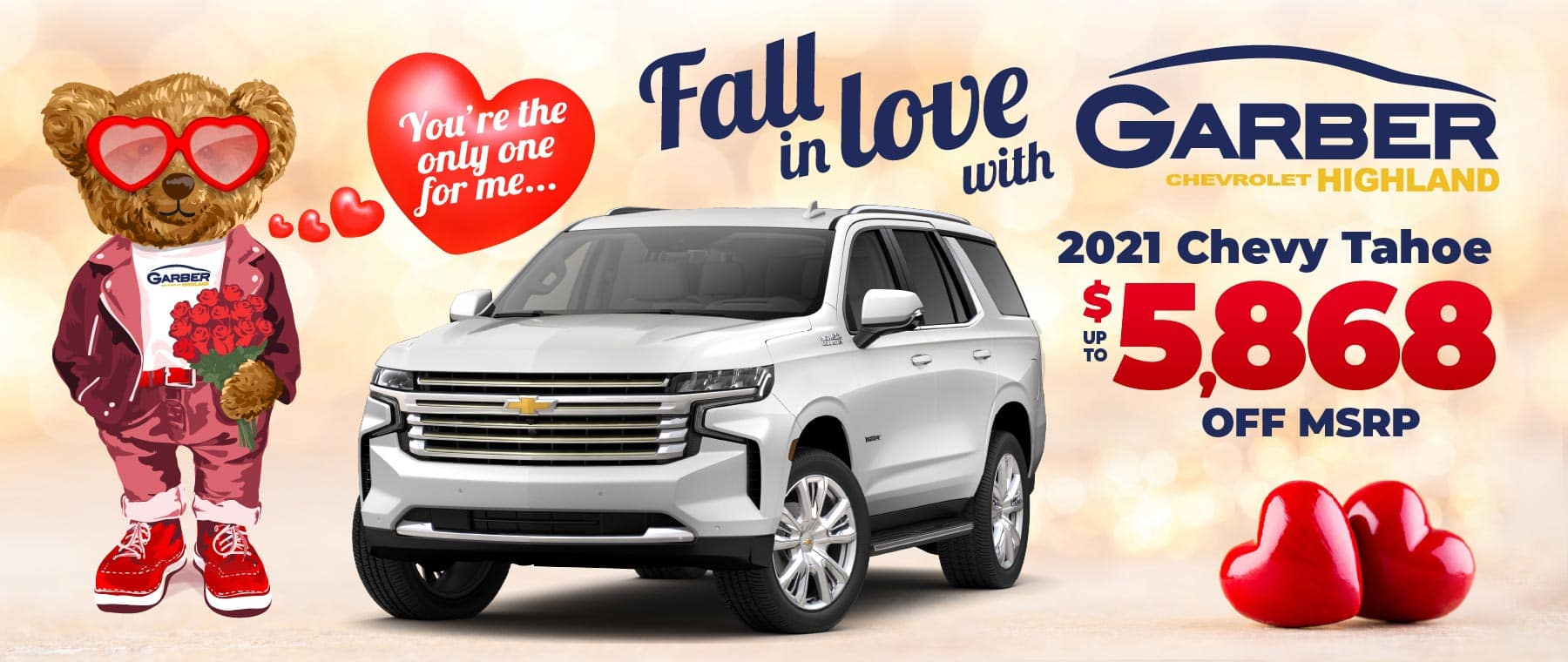 2021 Chevy Tahoe - up to $5868 off MSRP