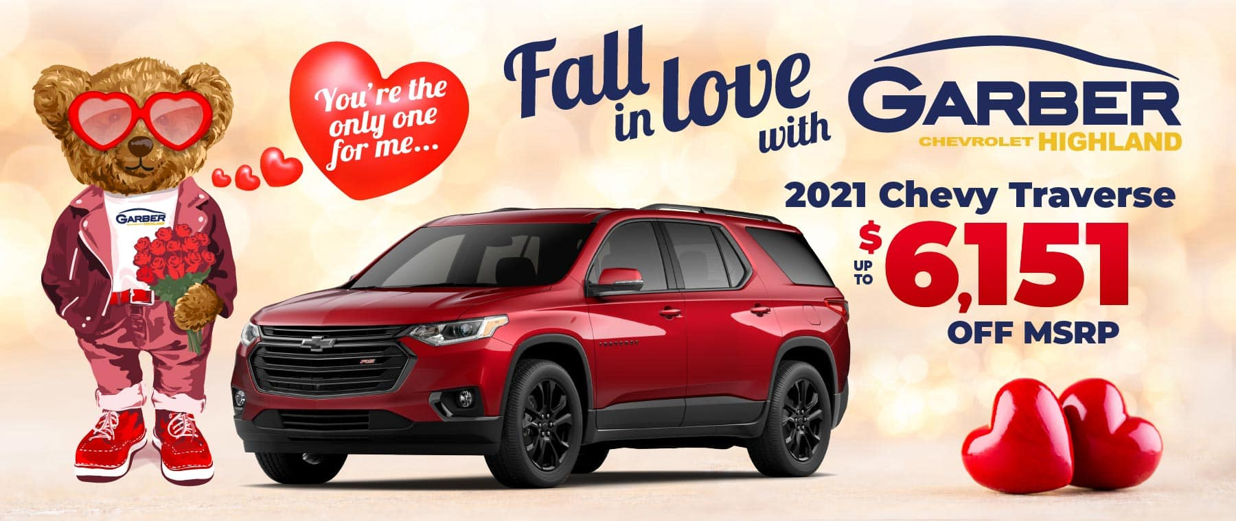 2021 Chevy Traverse - up to $6151