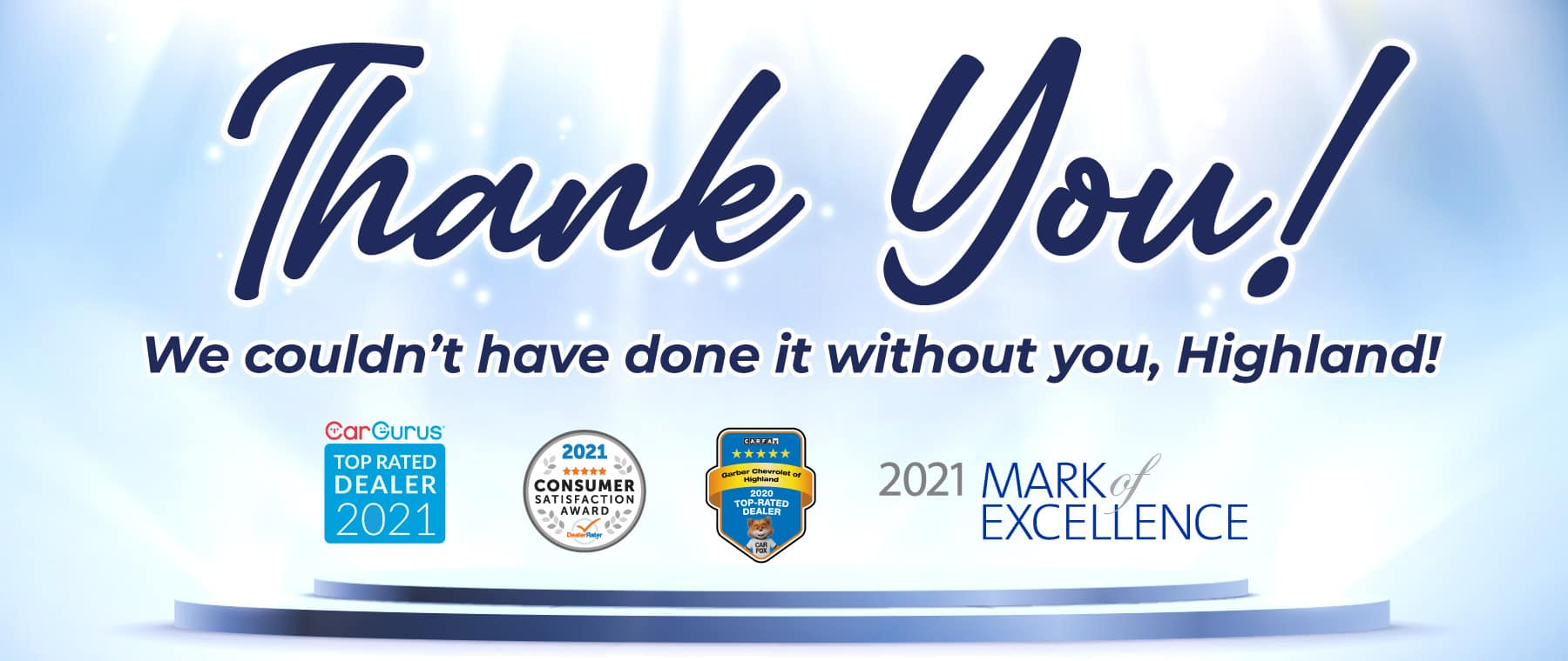 Thank you! We couldn't have done it without you, Highland!