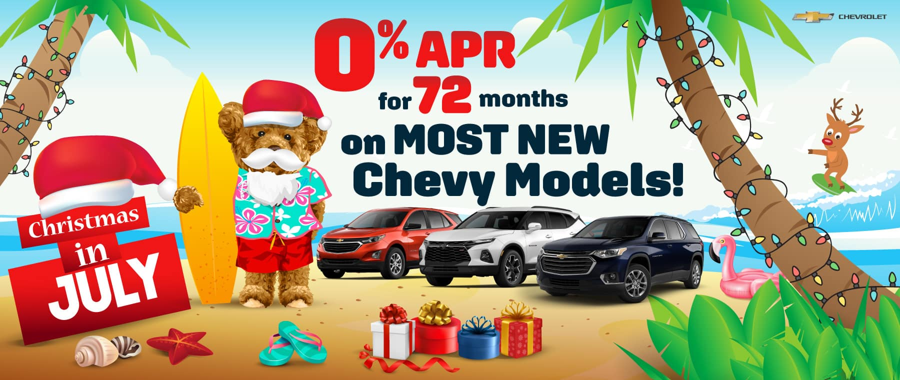 0% APR for 72 momths plus NO Payments for the rest of Summer!