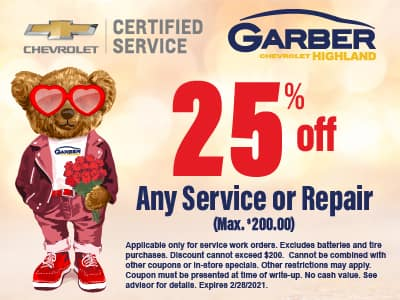 25% off any service or repair