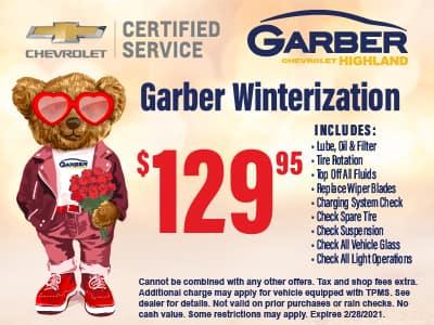 Garber Winterization $129.95