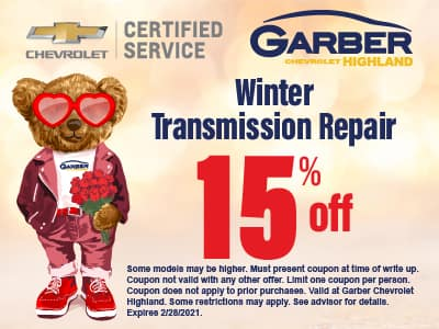 Winter Transmission Repair 15% off