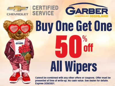 Buy One Get One 50% off all Wipers