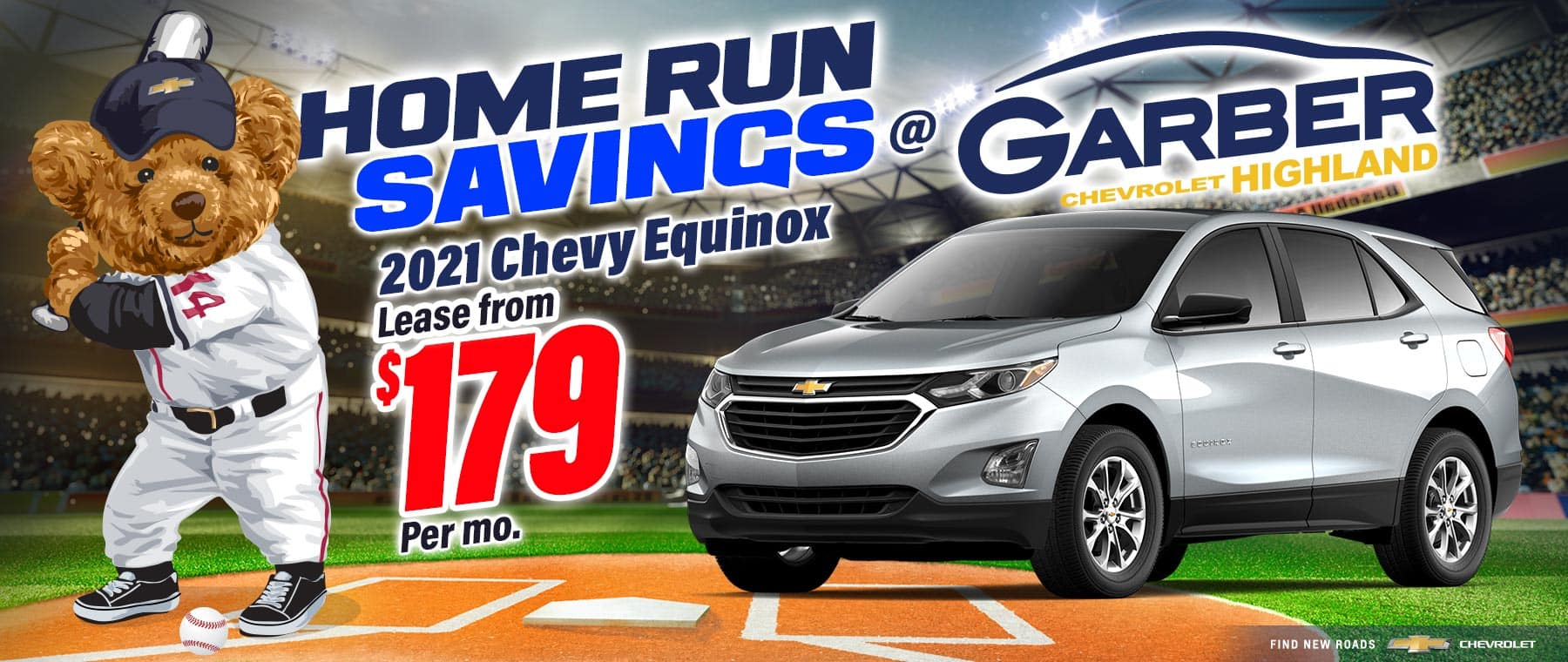 2021 Chevy Equinox - lease from $179 per month