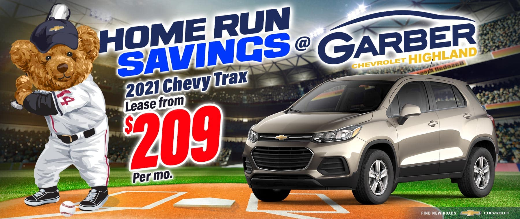 2021 Chevy Trax - Lease from $209 per month