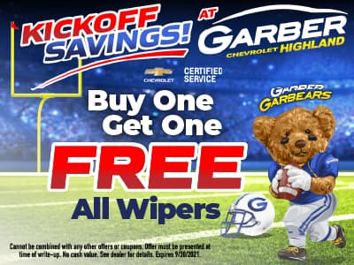 Buy One Get One Free on All Wipers