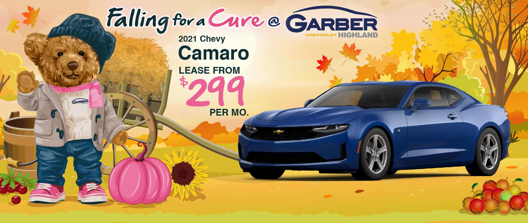 2021 Chevy Camaro - lease from $299 per month