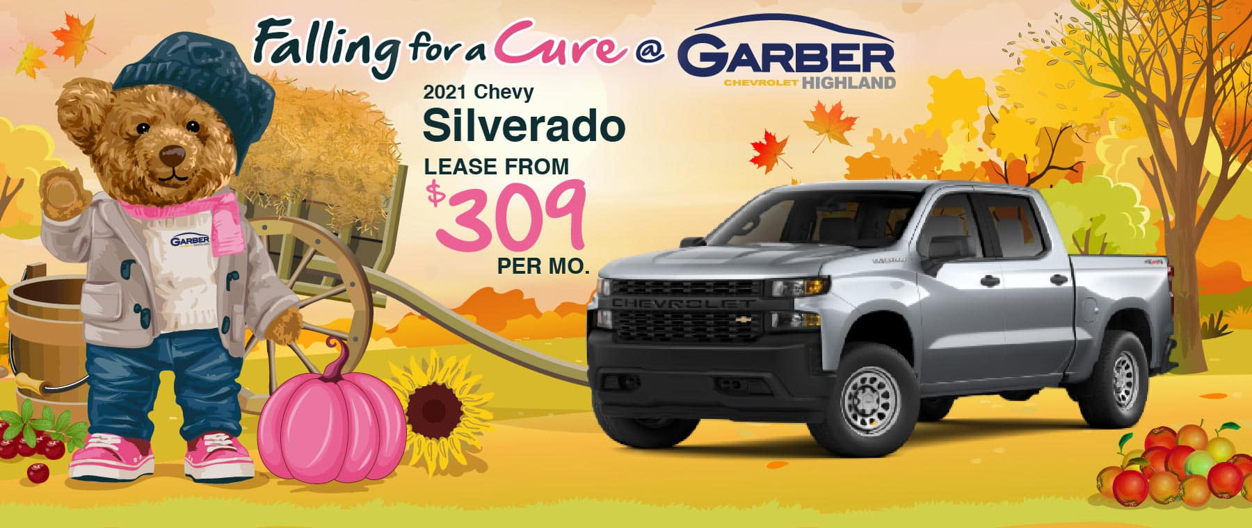 2021 Chevy Silverado - lease from $309 per month