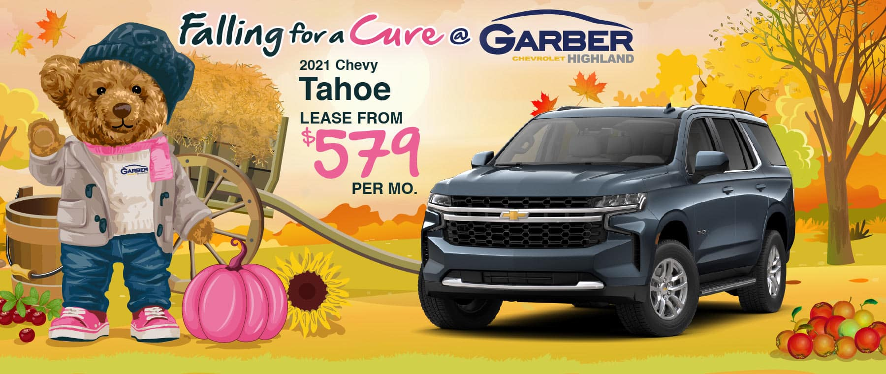 2021 Chevy Tahoe - lease from $579 per month