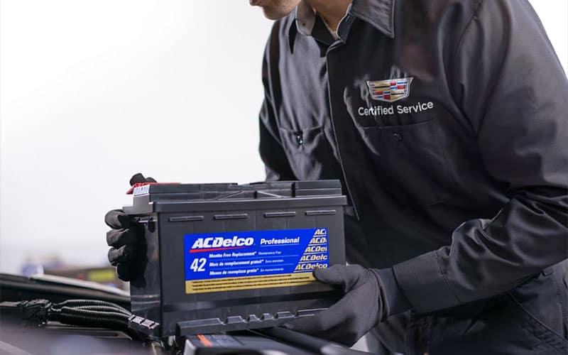 Cadillac Technician Battery Installation