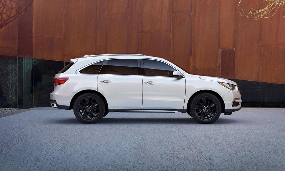 2018 Acura MDX Advance PAckage White Diamond Pearl Berlina Black Alloy Wheels