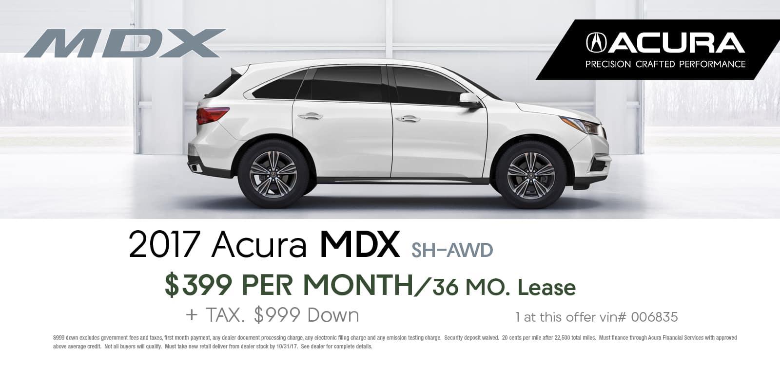 Mdx october lease offer