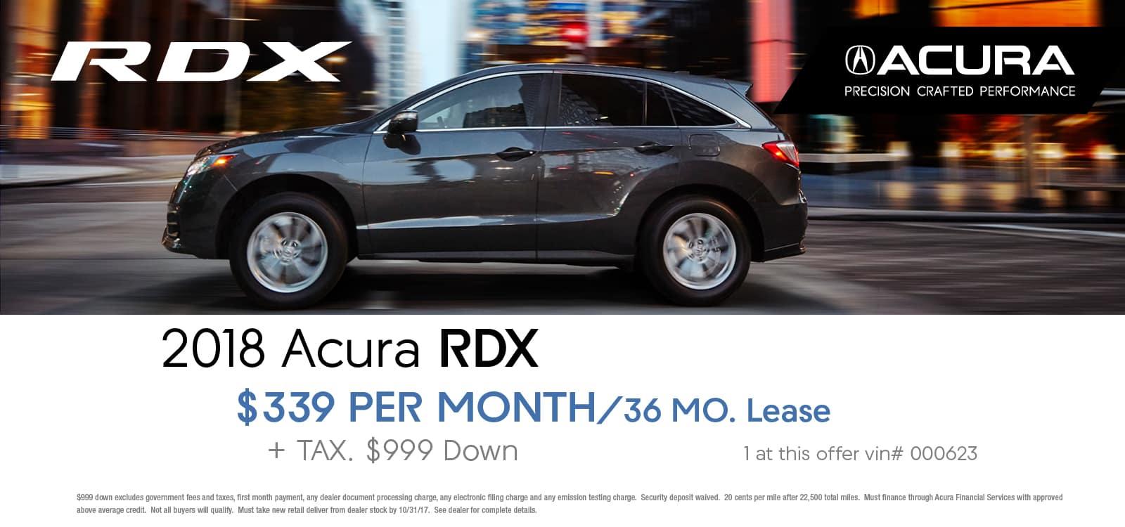 Rdx october lease offer