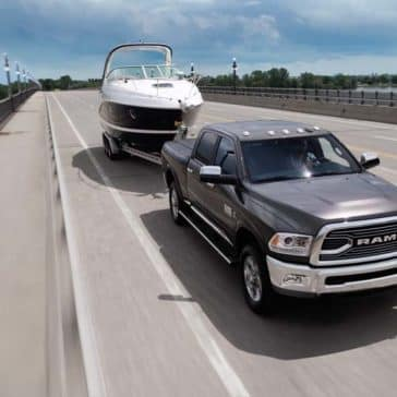 2018 RAM 2500 towing a board