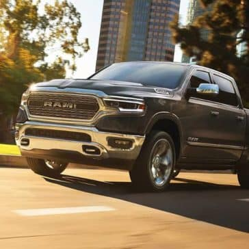 2019 Ram 1500 driving down city street