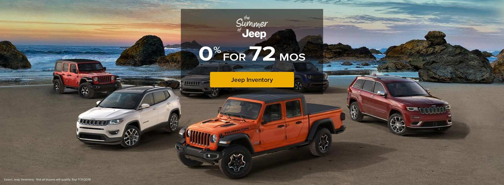 Jeep 0% for 72 mo