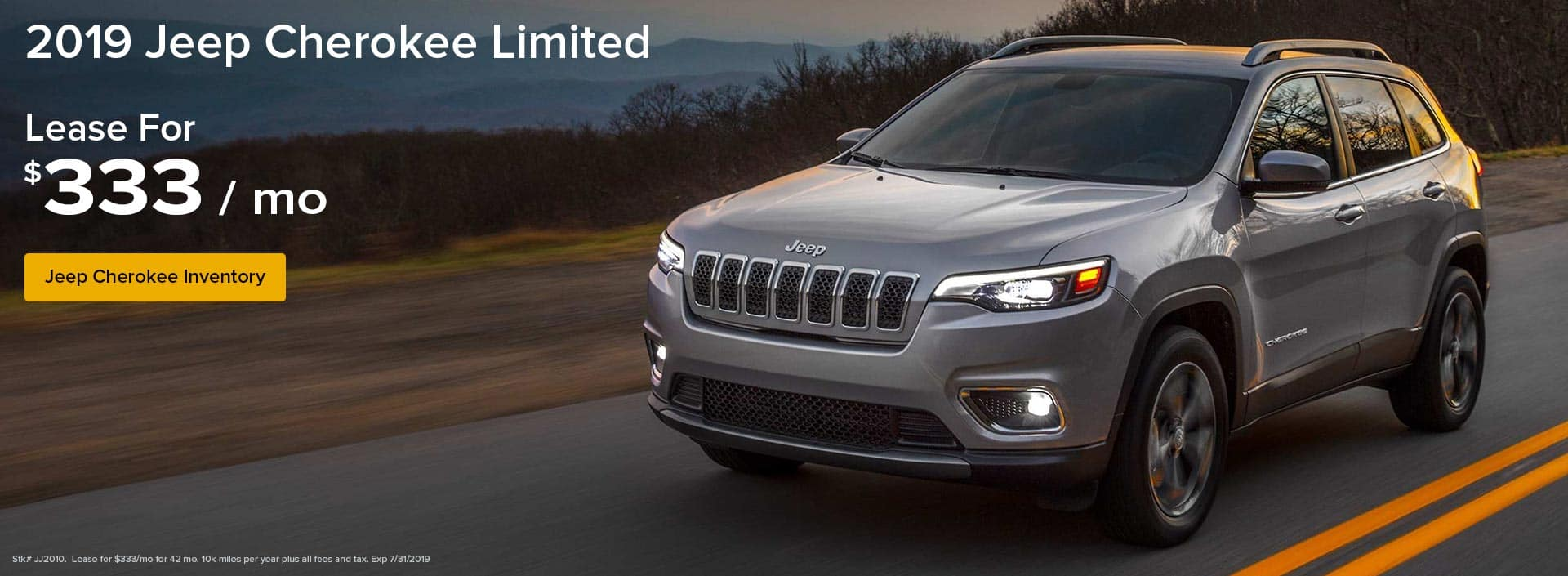 Lease a Jeep Cherokee Limited