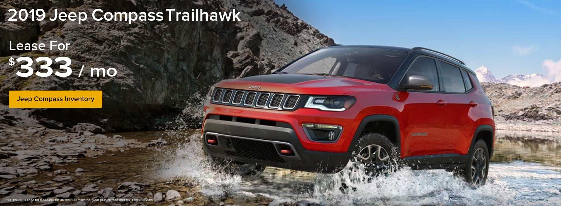 Lease a Jeep Compass for $333/mo