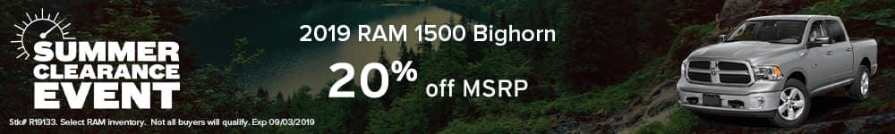RAM 1500 20% off MSRP