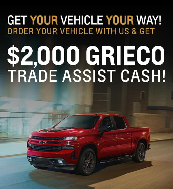 Get your vehicle your way - $2,000 trade assist