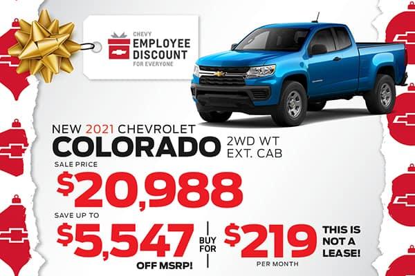 Grieco Specials Image - New 2021 Chevrolet Colorado