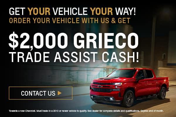 $2,000 Trade Assist Cash
