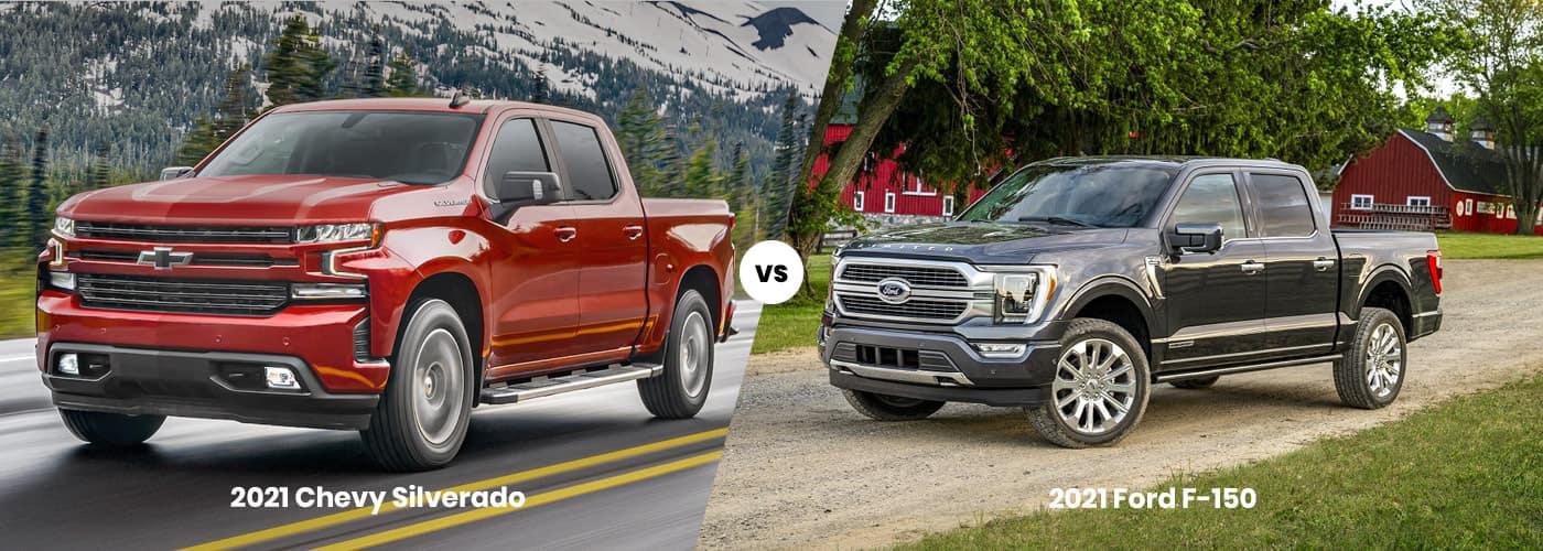 2021 Chevrolet 1500 vs. 2021 Ford F-150