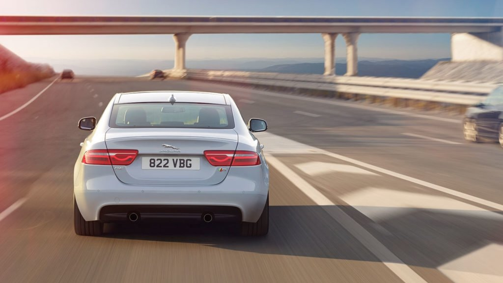 2018 Jaguar XE Rear View Driving