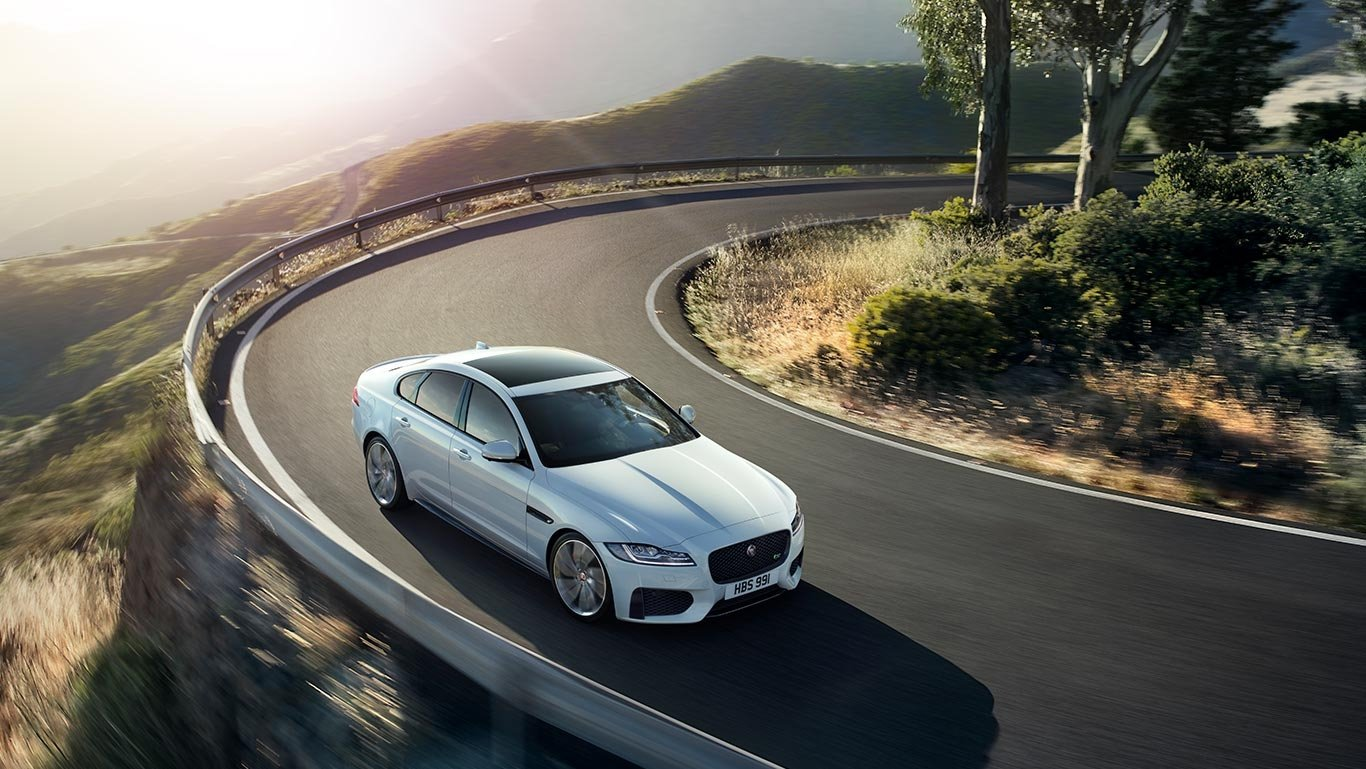 2018 Jaguar XF driving