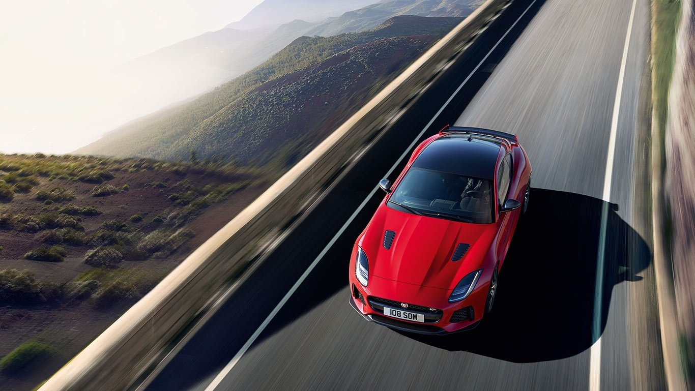 2018 Jaguar F-TYPE Coupe Top View