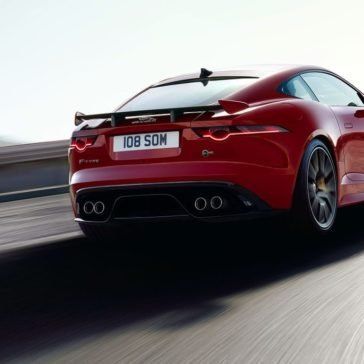 2018 Jaguar F-TYPE Coupe Rear View driving