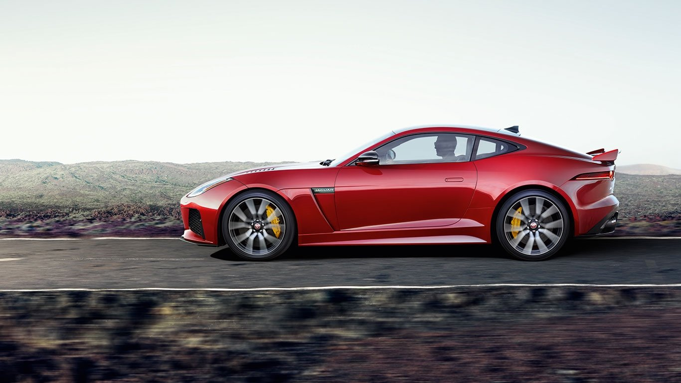 2018 Jaguar F-TYPE Coupe Side View