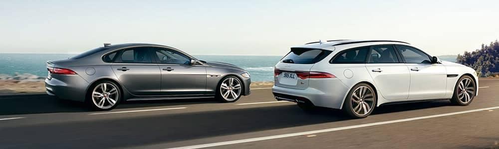 Jaguar XF Models Driving