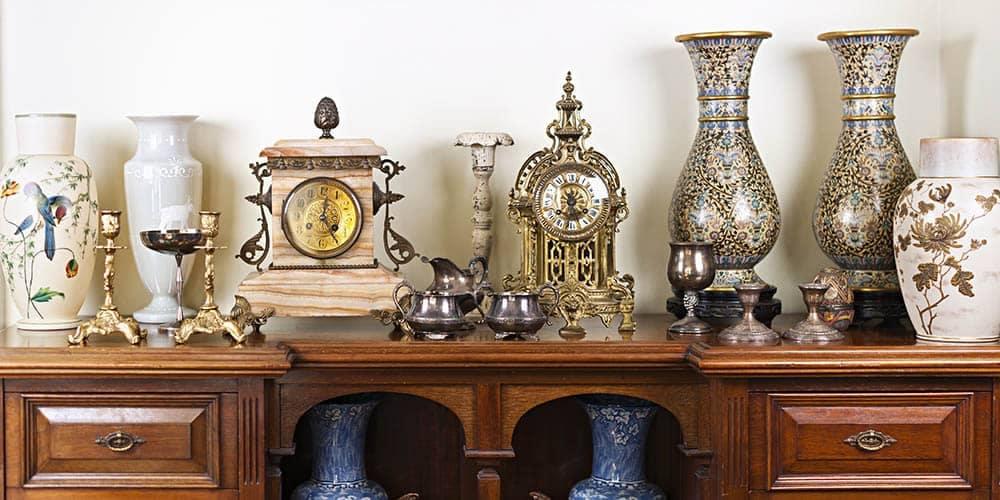Antique Vases and Clocks