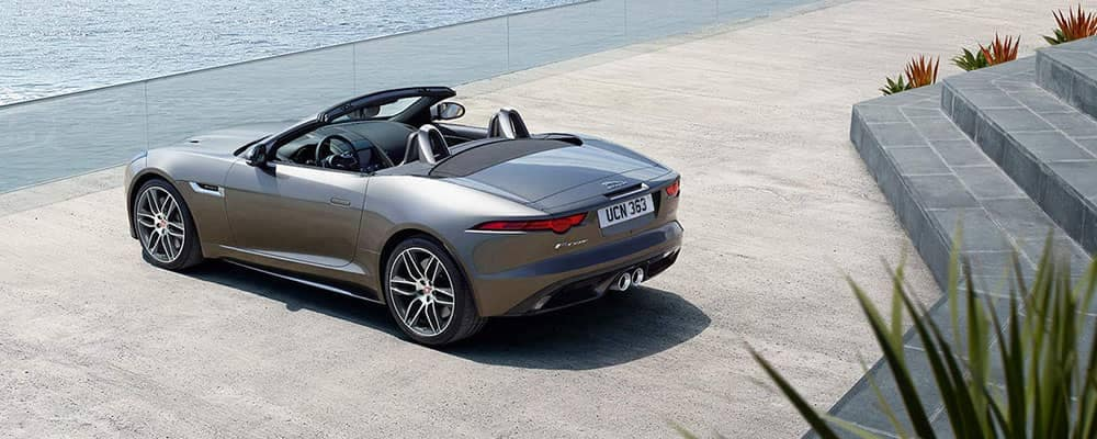 Jaguar F-TYPE Parked in Front of Ocean