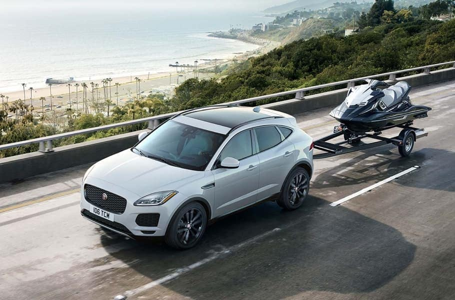 2019 Jaguar E-PACE Towing a Wave Runner