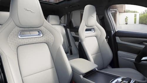 new Jaguar interior light leather seats