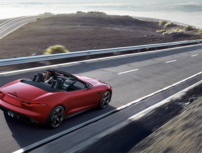 Jaguar model features sporty handles, thrilling acceleration, and potent power.