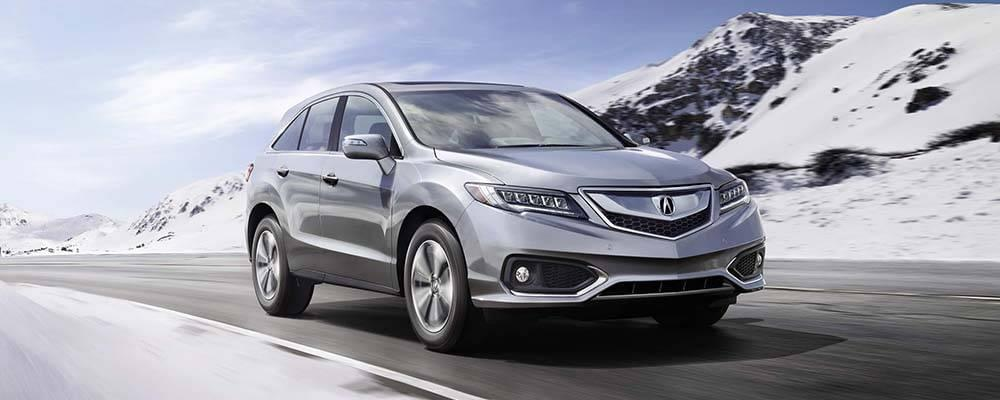 2017 Acura RDX driving in snow