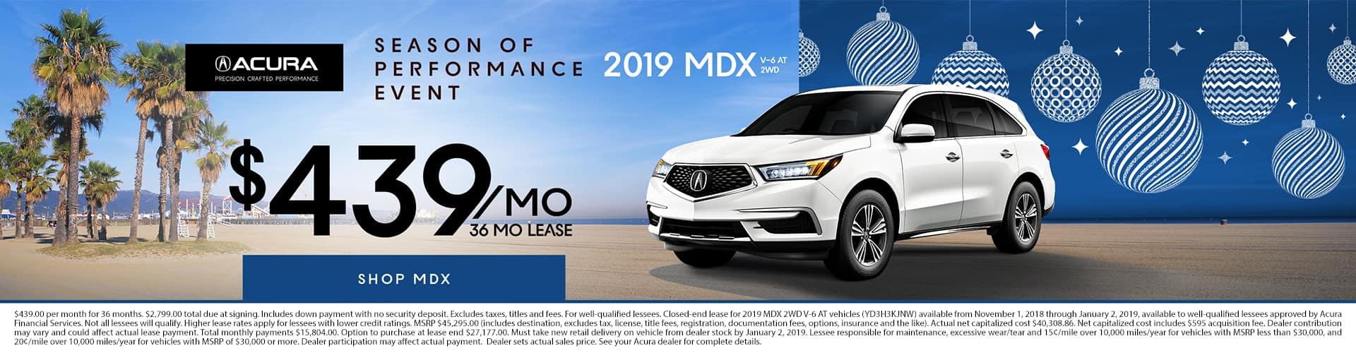 2019 MDX $439 per month