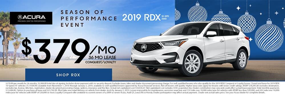 2019 RDX $379 per month