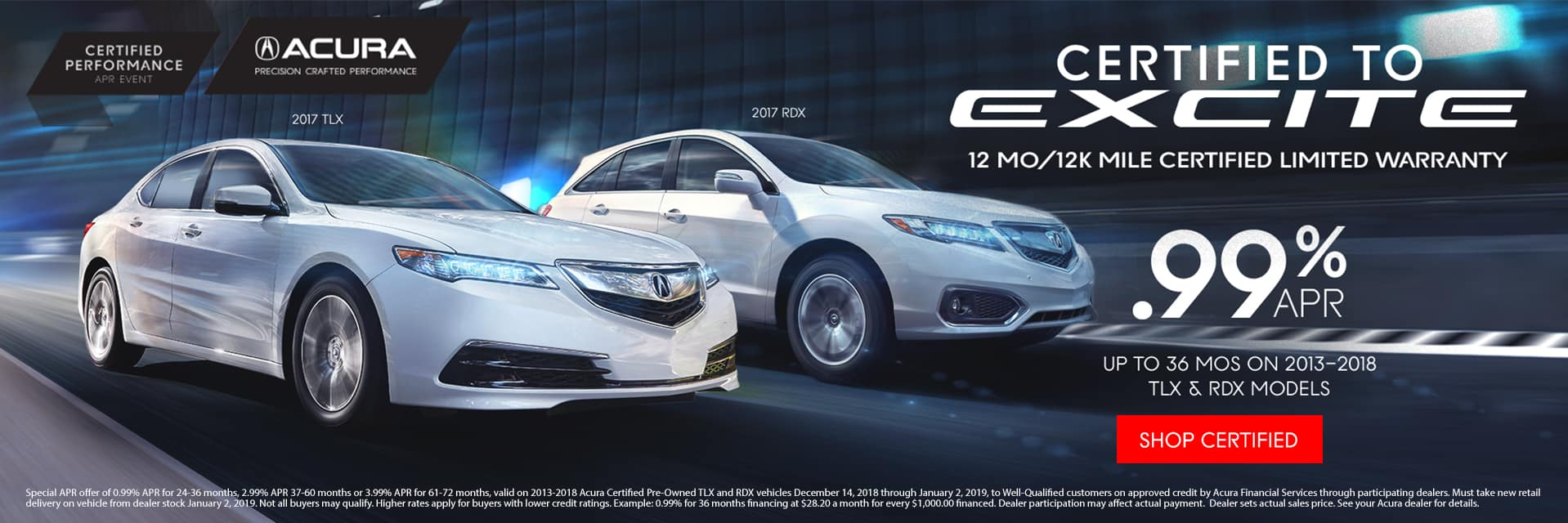 Acura Certified Pre-Owned for .99% APR