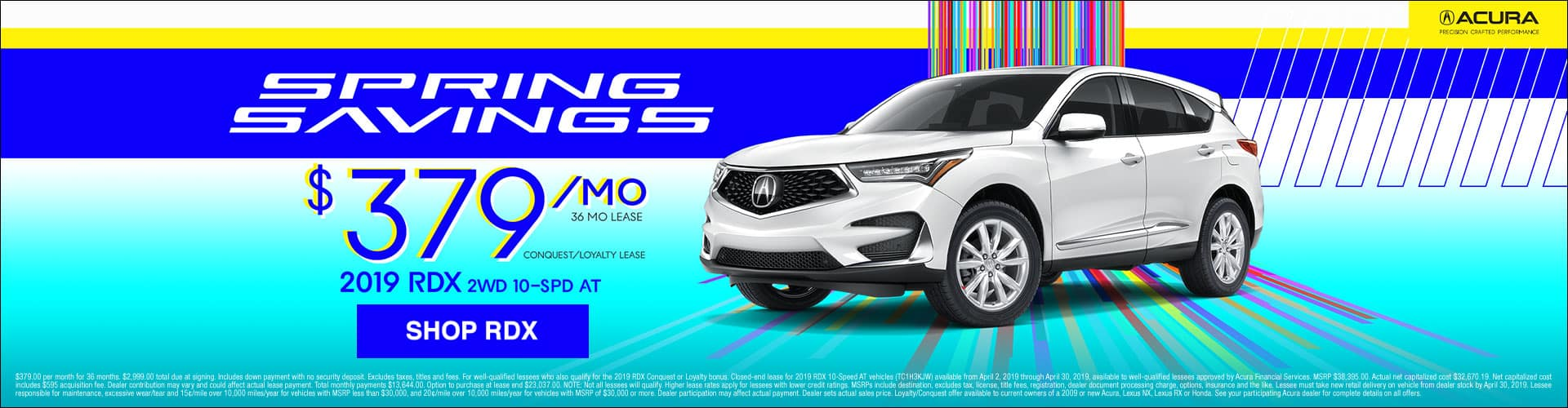 2019 Acura RDX $379 Lease Offer