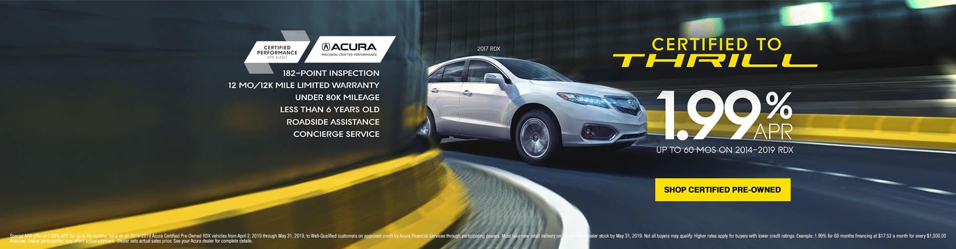 Acura RDX CPO Offer