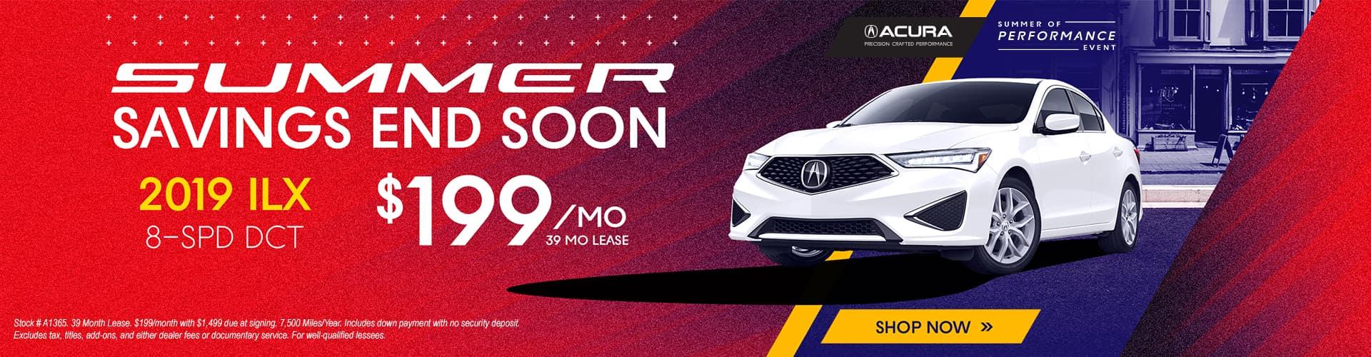 2019 Acura ILX $199 Lease